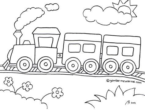 10 gambar mewarnai kereta api