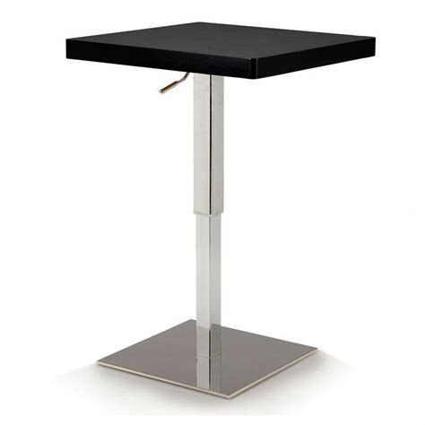 table haute carr 233 e flash relevable noir achat vente mange debout table haute cdiscount