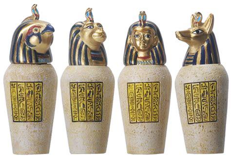 canap ik canopic jars replicas set anubis horus sekhmet human