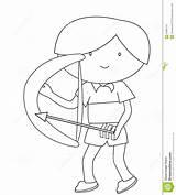 Arrow Coloring Bow Boy Pagina Pfeil Farbtonseite Bogen Junge Einer Pijl Jongen Boog Kleurende Freccia Arco Coloritura Ragazzo Dell Della sketch template