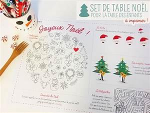 Set De Table De Nol Imprimer Et Colorier Bricolage