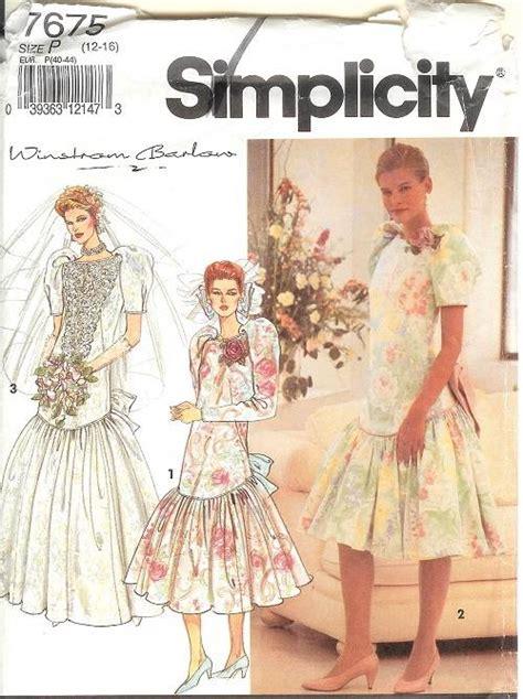 oop simplicity sewing pattern misses bridal bridesmaids