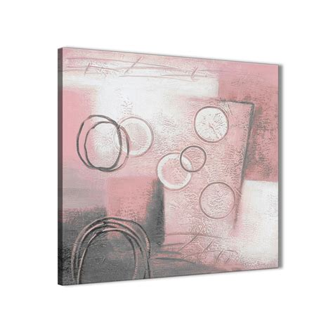 blush pink grey painting kitchen canvas pictures decorations abstract 1s433m 64cm square print
