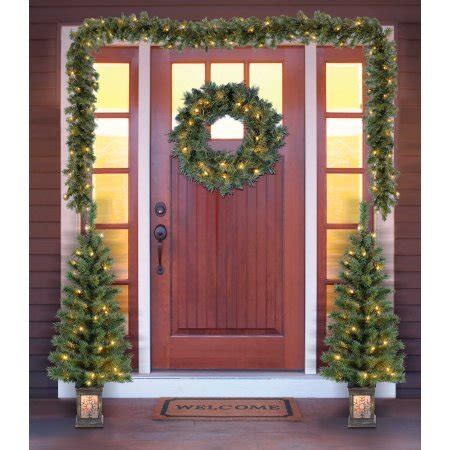 garland around front door garlands wired and pre lit great gift ideas 3736