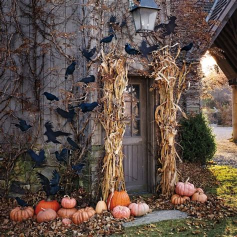 cute  cozy fall  halloween porch decor ideas