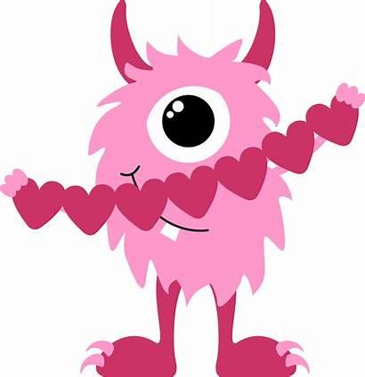 Valentine Clip Monster Clipart Valentines Downloads