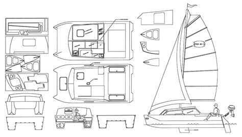 Catamaran Free Plans Pdf by Plywood Beach Catamaran Plans Antiqu Boat Plan