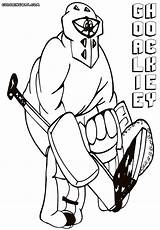 Hockey Coloring Goalie Pages Print Coloringway sketch template