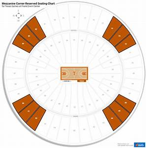 Erwin Center Basketball Seating Chart Frank Erwin Center Texas Seating Guide Rateyourseats Com