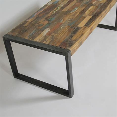 table basse industrielle bois color 233 et m 233 tal petit mod 232 le metals and tables