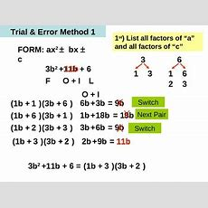 Powerpoint Factoring Trinomials Of The Form Ax^2 + Bx + C Tpt