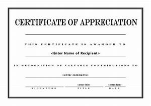 best photos of free printable blank certificate of With free certificate of appreciation template downloads