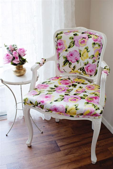 Diy Armchair Upholstery by 25 Best Ideas About Floral Chair On