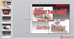 Auto Repair Manuals  Takeuchi Full Set Service Training