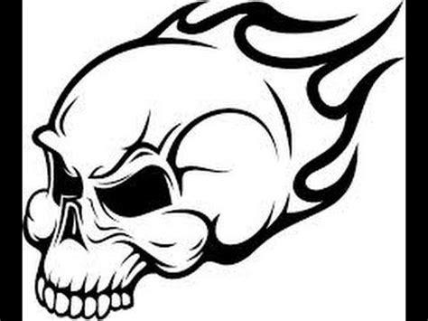 draw  flaming skull  youtube