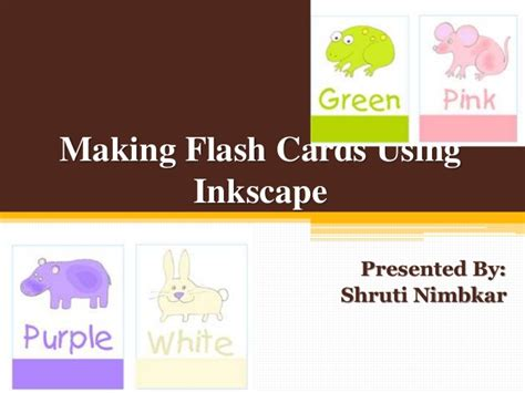 Making Flashcards Using Inkscape Software