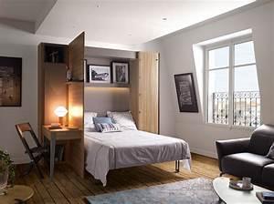 Lit Gain De Place Studio : lit pour studio gain de place elegant dco tudiant meubles ~ Premium-room.com Idées de Décoration