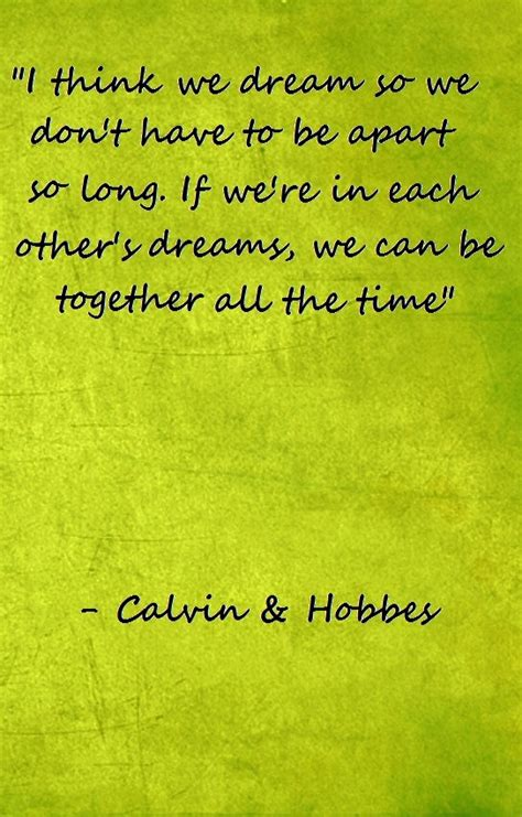 Calvin and Hobbes Quotes Dream