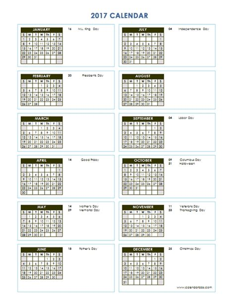 yearly calendar template vertical   printable