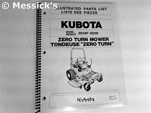 Kubota  Zd28 Parts Manual  Part   97898