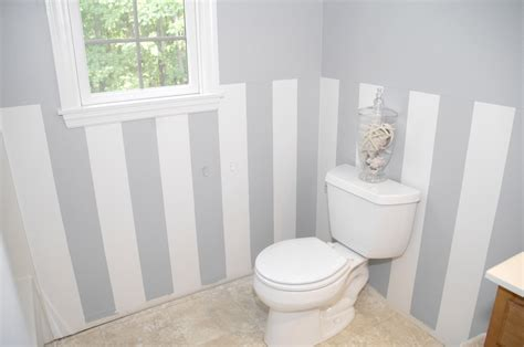 Easy, Diy Wall Stripes In The Bathroom  Living Rich On