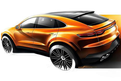 porsche cayenne coupe teaser image leaked carbuyer