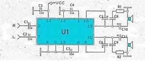 2 X 2 3 Watts Power Amplifier Schematics