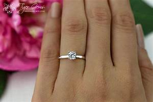 1/2 Carat Engagement Ring, Classic Solitaire Ring, Man ...
