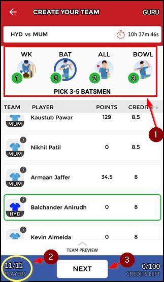 league dream11 pro app in mobile