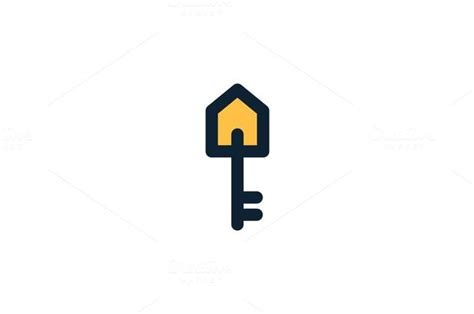 real estate house key logo  rekisaurus  atcrea