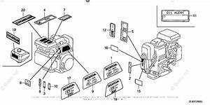Honda Small Engine Parts Gc160 Oem Parts Diagram For Label