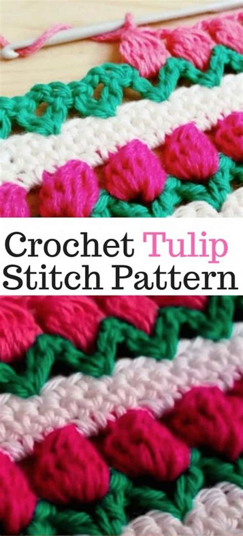 crochet tulip stitch video youtube instructions  pattern