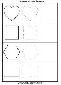shape tracing 3 worksheets free printable worksheets worksheetfun