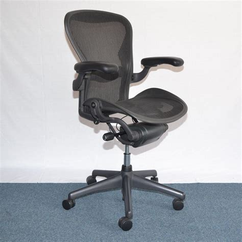 aeron chair size c used herman miller aeron size c task chair lumbar