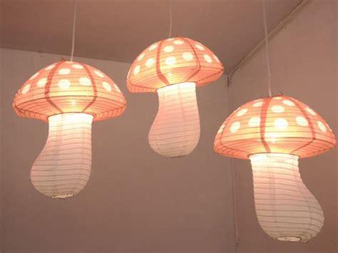 kid mushroom light hanging