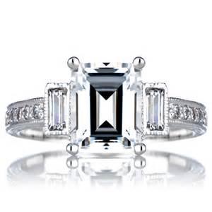 emerald vintage engagement rings norah 39 s engagement vintage ring emerald cut cz