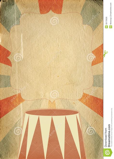 retro circus style poster template  rhombus background
