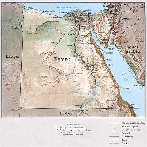 egypt maps printable maps  egypt