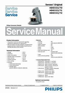 Philips Senseo Hd6553 70 71 72 Service Manual Free