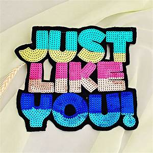 215x19cm large beads applique patch clothes accessories With letter patches for shirts