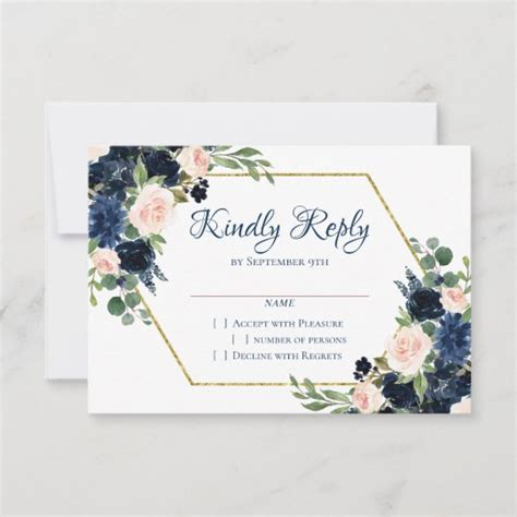 Love Bloom Chic Blush Navy Floral Wreath Garland RSVP