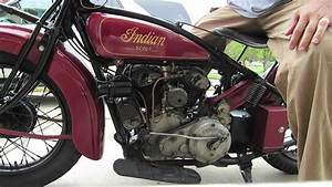 1929 Indian 101 Scout Start and Idle - YouTube