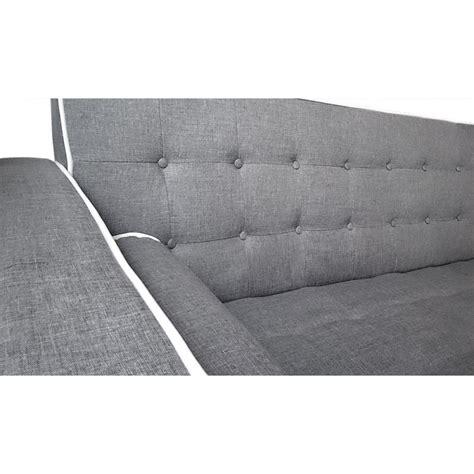 canapé blanc tissu canapé convertible scandinave tissu gris liseré blanc pas