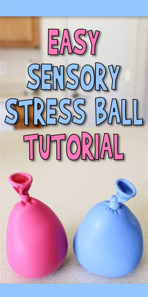 easy sensory stress ball tutorial woo jr kids activities