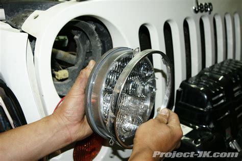 Jeep Jk Headlight Wiring by Truck Lite Jeep Jk Wrangler Led Headlight Installation