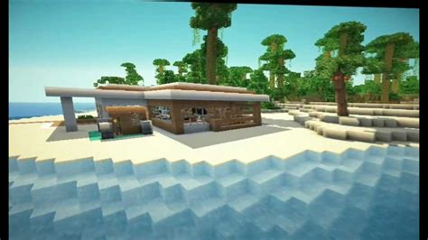minecraft modern beach house youtube