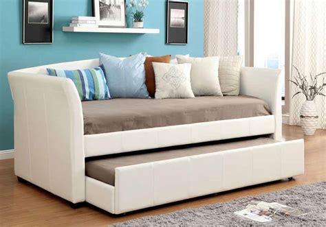 Delmar Contemporary Leatherette Platform Daybed Day Bed