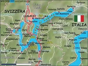 Italienische Schweiz Karte : karte von lago di lugano region in italien schweiz welt ~ Markanthonyermac.com Haus und Dekorationen