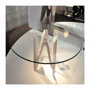 Table Ronde En Verre Pied Central : table ronde design en verre lambda sovet 4 ~ Teatrodelosmanantiales.com Idées de Décoration