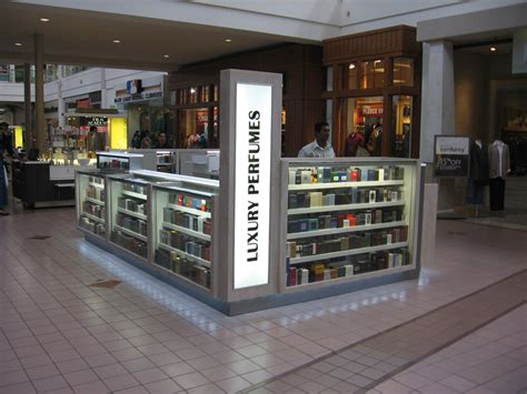 perfume kiosk displays  retail store mall displays